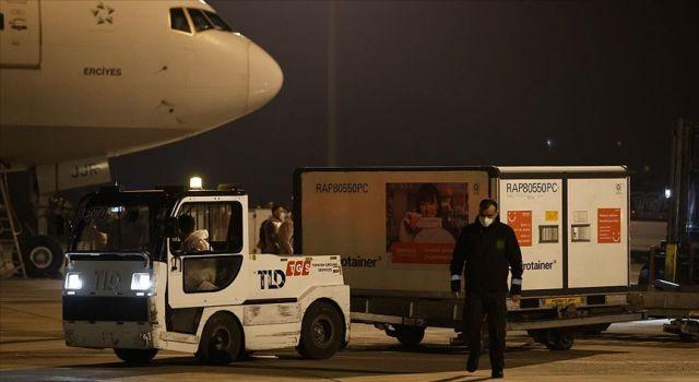 Çin'den sipariş edilen Kovid-19 aşıları Türkiye'ye geldi