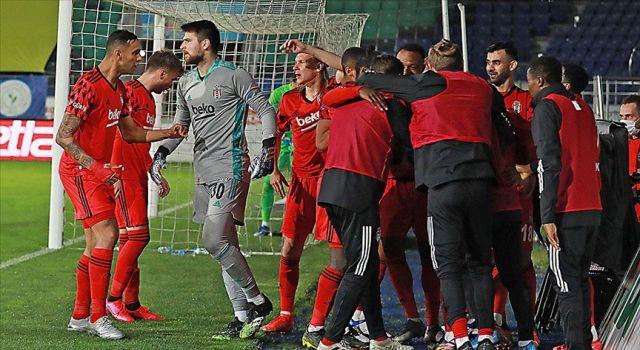 Lider Beşiktaş kritik Çaykur Rizespor maçını kazandı