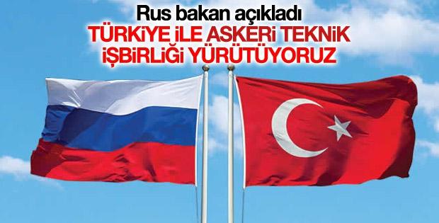 Türkiye ile Rusya arasında askeri teknik işbirliği